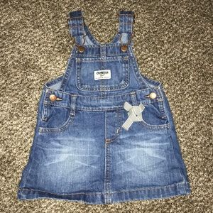 OshKosh B'gosh jean overall dress 18 Months